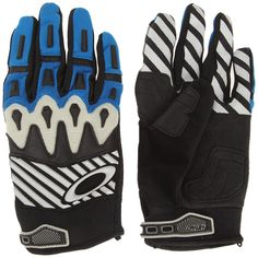 Oakley Overload Mens Off-Road Motorcycle Mountain Bike and BMX Gloves Black/Blue *** Read more  at the image link.