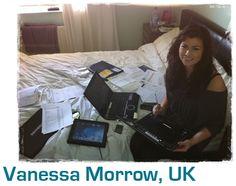 Vanessa's desk at ho