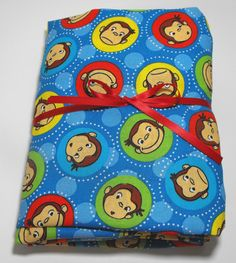 Curious George Fitted Sheet for Crib or Toddler Bed by KidsSheets