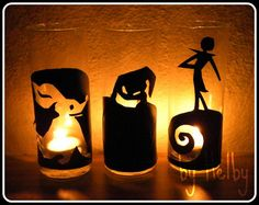Nightmare Before Christmas candles.