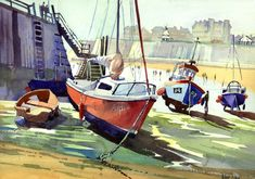 """""""BS Lazy Boats, August"""" #artforsale"""