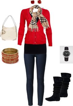 """""""red burb!"""" by kristen-vargaso ❤ liked on Polyvore"""