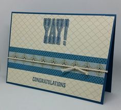 Stampin' Up! Demonstrator stampwithpeg –Quick Card Thursday : YAY! Super Duper Moroccan CongratulationsCard. I enjoyed making last weeks Quick card Thursday project and wanted to do something di…