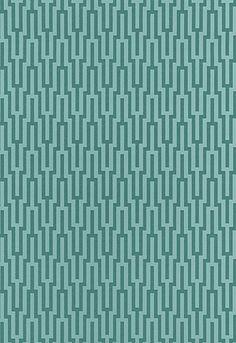 Wallpaper | Schumacher - Metropolitan Fret - Turquoise