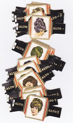 set of 24 cigar bands - hairstyles from the sixties issued in 1968