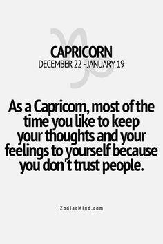 I trust no one.