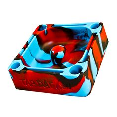Limited Edition Tap Dat Ashtrays are in. We call this red blue and black combination 'Cool Icee'.
