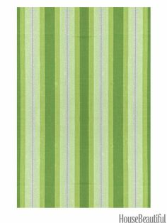 Thyme Ticking: The varying shades of green — all taken from a sprig of thyme — give this rug wonderful depth.