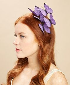 Look what I found on #zulily! Purple Morpho Butterfly Headband #zulilyfinds