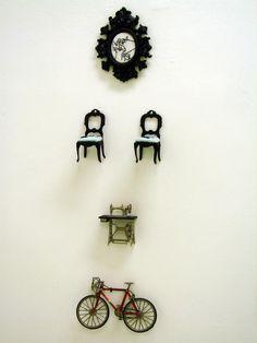 art miniatures vintage assemblage from brazilian artist silvana mello