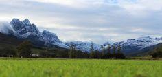 Snowy mountains near Stellenbosch South Africa  #winter #snowy #mountains #near #stellenbosch #south #africa #photography