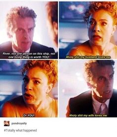The Doctor and River Song, in a nutshell. They are adorable xD