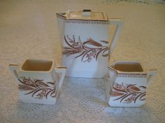 Aesthetic Brown Transfer Teapot Creamer and by JulieAnneTreasures, $40.00