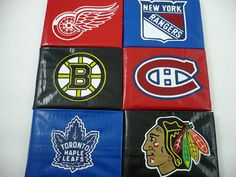 Items similar to Original Six Deluxe Bi-Fold Duct Tape Wallet Collector Set on Etsy Mens Wallet Styles, Duct Tape Colors, Custom Wallets, Main Colors, Colours, Original Six, Duct Tape Crafts, New York Rangers