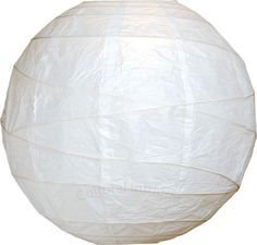 White 18 Inch Round Premium Paper Lantern by Cultural Intrigue. $7.95. This Premium white paper lantern is made with the finest quality rice paper and features freestyle bamboo ribbing. This lantern also includes a versatile expander which clips directly onto a light bulb! Please note that the No Frills colors do not match our Premium lantern colors although they may share the same color name. If you need truly matching colors please shop within one line or the other, either ...