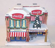 "Coca Cola Sporting Goods and Health Club Hawthorne Coca Cola Holiday Village ~ Retired Detailed Hand-crafted, hand painted sculpture  Limited Edition ~ Sculpture Number A0650  ~ COA Approx Size 7.25"" x  6"" x 6""""  ~ For indoor use only"