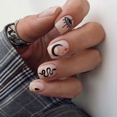 Frensh Nails, Edgy Nails, Funky Nails, Stylish Nails, Swag Nails, Funky Nail Art, Grunge Nails, Bright Gel Nails, Trendy Nail Art