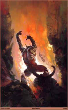 Fire Demon By Frank Frazetta