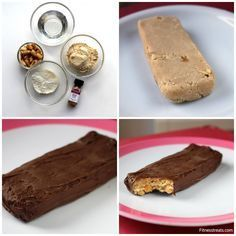 Pea Protein Homemade Snickers: 2 tbsp IMO-syrup, 1 tbsp coconut flour, 2 tbsp pea protein, 1 tbsp peanuts, 2 drops of peanut butter flavoring, 1-2 squares of unsweetened dark chocolate for coating