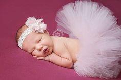 Palest Pink tutu with vintage style headband, newborn tutu, baby tutu, tutu and headband, newborn photography prop