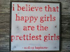 Happy Girls Hand Painted Sign via Etsy.