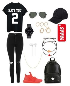 """Polyvore Style"" by jesy-smith on Polyvore featuring mode, adidas Originals, Topshop, Givenchy, Casetify, Y-3, Ray-Ban, Sony, The Horse et Venessa Arizaga"