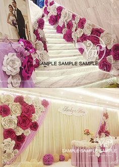 10pcs 40cm Custom Made Paper Foam Flower For Wedding Venue Backdrop Decoration Fun Crafts To Do, Light Effect, Wedding Decorations, Wedding Ideas, Picture Show, Color Show, Paper Flowers, Engagement, Bliss