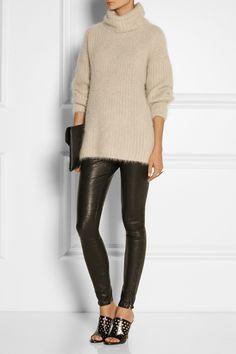 Helmut Lang Angora-blend turtleneck sweater NET-A-PORTER.COM