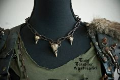 Wasteland jewelry, made from tiny bird skulls of course.