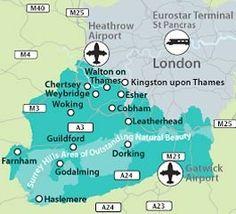 Map of Surrey