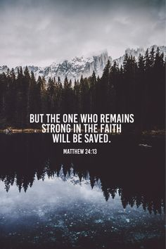 WILL BE SAVED. Thank you, Lord!