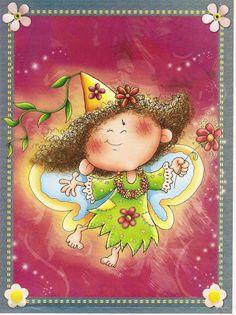 Hadas de las Estaciones - Petri Castaño - Picasa Web Albums Painting Recipe, Cute Clipart, Fairy Princesses, Candyland, Paper Cards, Cute Illustration, In Kindergarten, Four Seasons, Art For Kids