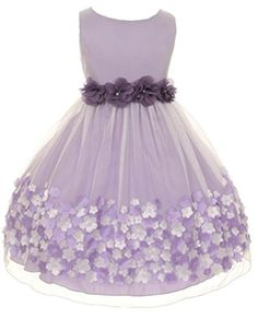 15e8526c4 Kids Dream Little Girls Lavender Taffeta Flowers Sleeveless Easter Dress  Light Purple