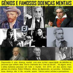 Gênios e Famosos com doenças mentais