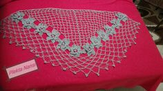 Triangle Shawl with flowers