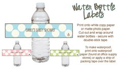 FREE printables baby shower punch labels! Recipes for Blue Shower Punch, Pink Shower Punch and our Famous Slushy Punch!!