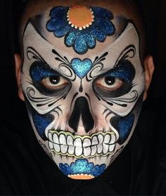 Image result for ronnie mena sugar skulls face paint