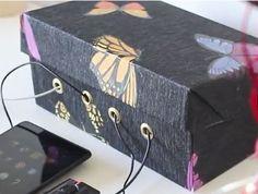 #Organizador de #cables para dispositivos con #caja de #cartón paso a paso  #HOWTO #DIY #artesanía #manualidades