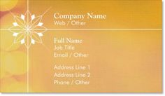 Sunset Spa Premium Business Cards, Floral Sunset Premium Business Cards | Vistaprint