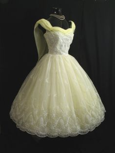 Lemon Yellow Chiffon Organza Lace