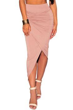 Pink Asymmetrical Skirt