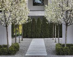 Urban Garden Design Emerald Green Thuja as accent wall Modern Landscape Design, Modern Garden Design, Contemporary Landscape, Traditional Landscape, Contemporary Design, Modern Design, Landscape Concept, Green Landscape, Landscape Architecture
