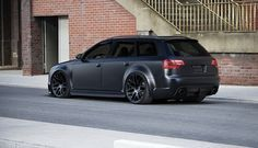 Murdered out Audi RS4 Avant.