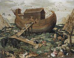 El arca de Noé en el Monte Ararat. 1570. Simon de Myle