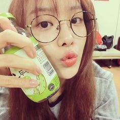 SECRET Song Jieun, Selfie On The Way To Work 'Round Glasses' http://www.kpopstarz.com/articles/125307/20141018/secret-song-jieun-selfie-on-the-way-to-work-round-glasses.htm