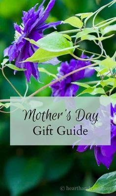 Enjoy this mother's day gift guide filled with 10 ideas for the perfect items to give mom or any special lady in your life.