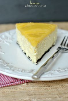 Lemon Cheesecake - Shugary Sweets July 30th - National Cheesecake Day  Love it!