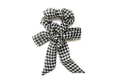 Polka Dot Scrunchie, Bow Scrunchie, Elastic Hair Tie, Soft Hair Tie, Gift for Her, Womens Gift,Skinny Scarf, Under 15 Dollars, Ready To Ship #scrunchie #hairaccessory #skinnyscarf