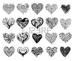 Tattoo harten. Stockfoto - 35326819