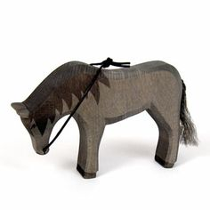 Horse Black with Reins